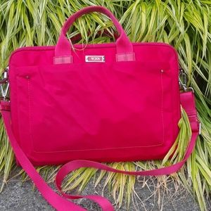 Tumi bright pink laptop bag